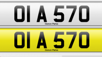 Desirable 6 digit number plate OIA 570