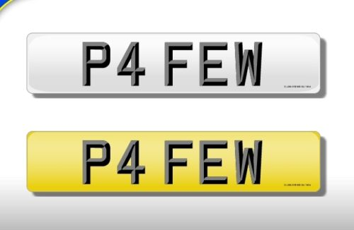 P4 FEW  number plate