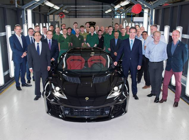 First Lotus Evora 400 drives off